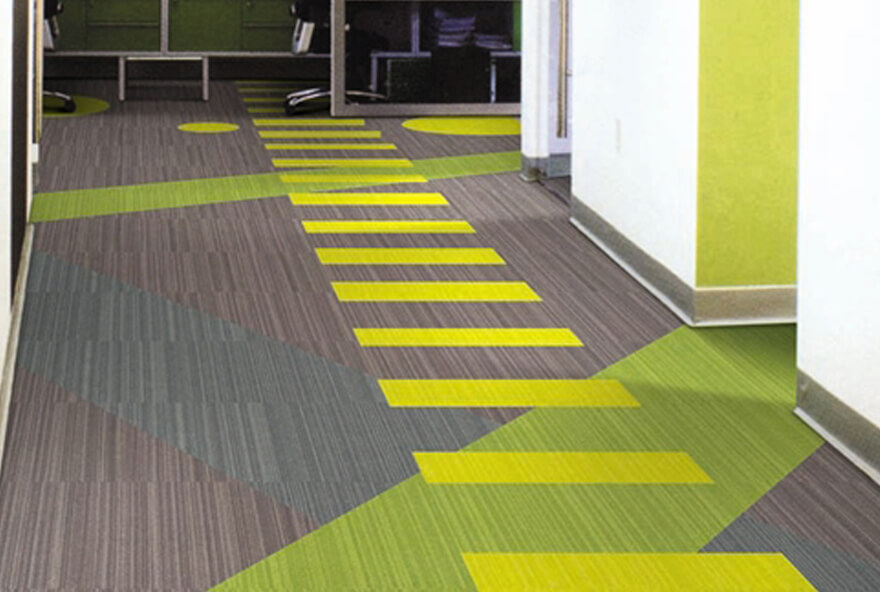 Tile carpet flooring